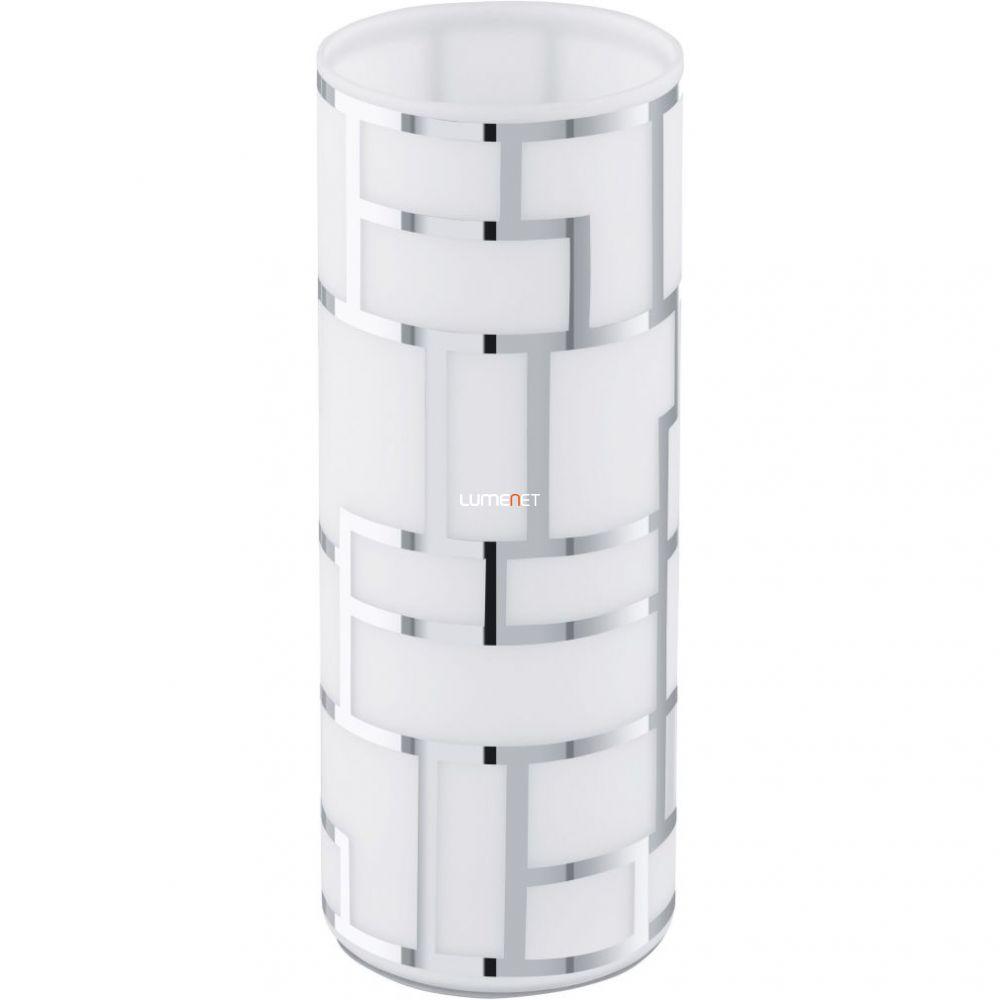 EGLO 91971 Asztali lámpa 1xE27 max. 60W fehér/króm dekor Bayman