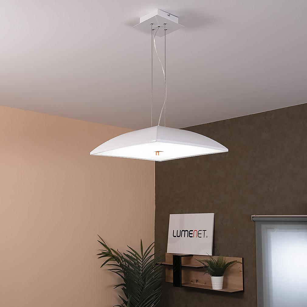 EGLO 92783 LED-es Függeszték 24W acél/fehér műanyag/fehér 47x47x110cm Zagarole