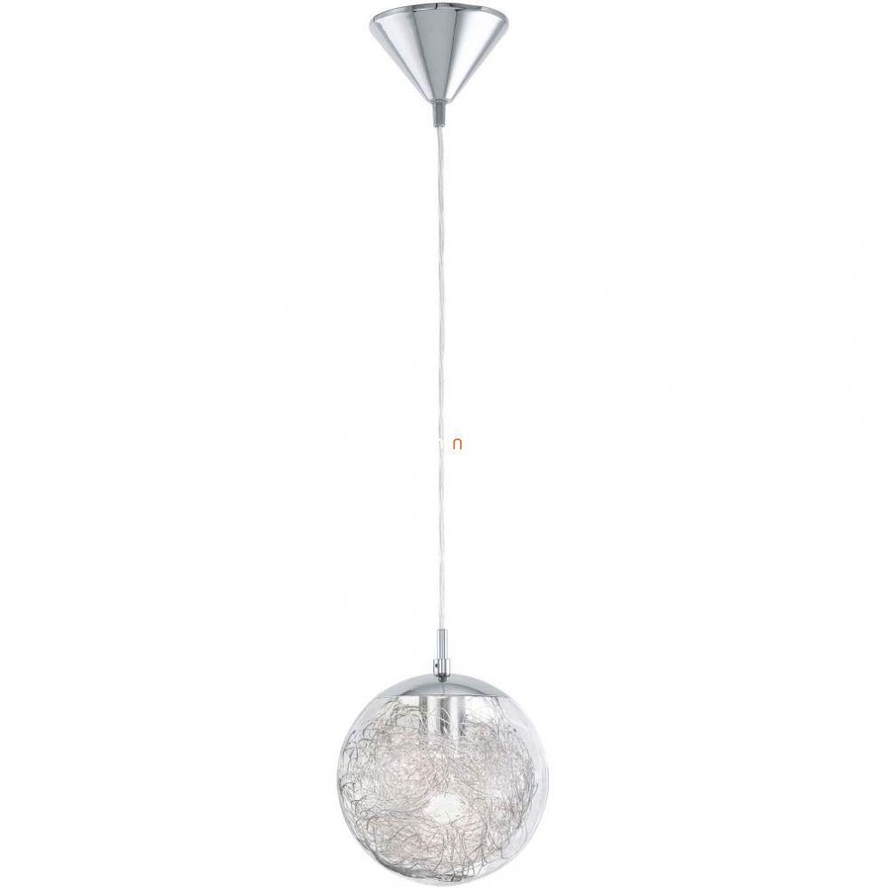 EGLO 93073 függeszték E27 60W króm üveg/alu d:25cm Luberio