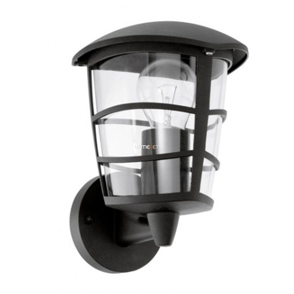 EGLO 93097 Kültéri fali fel 1xE27 max.60W 17*22,5*19cm alumínium öntvény fekete, átlátszó műanyag IP44 Aloria