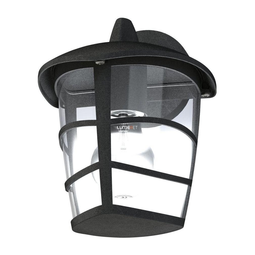 EGLO 93098 Kültéri fali le 1xE27 max.60W 17*22,5*19cm alumínium öntvény fekete, átlátszó műanyag IP44 Aloria