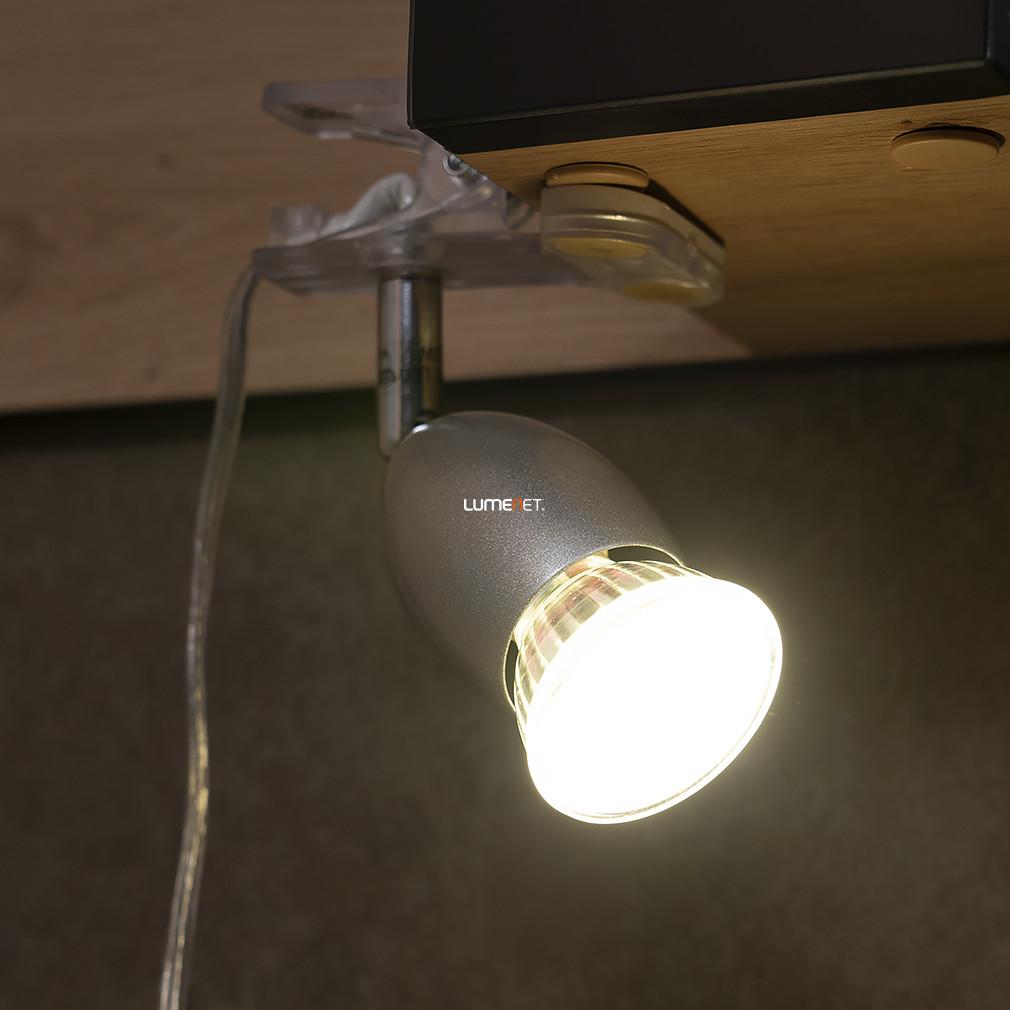 EGLO 93119 Csíptethető szpot 1xGU10 3W LED acél/műanyag, kr/fehér lakk 13cm Banny 1