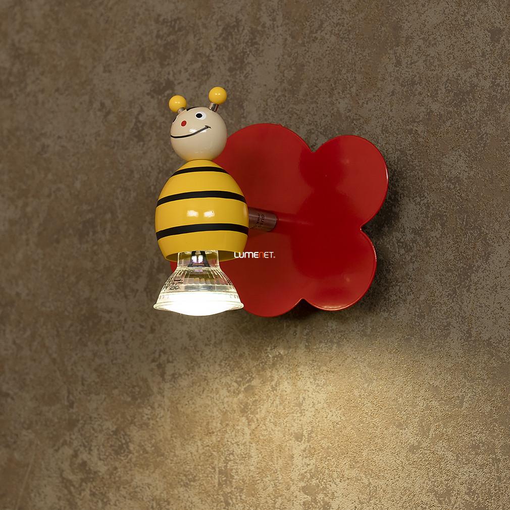 EGLO 93139 Gyereklámpa fali 1xGU10 3W LED acél/színes 14,5x12,5cm figurás Taya 1