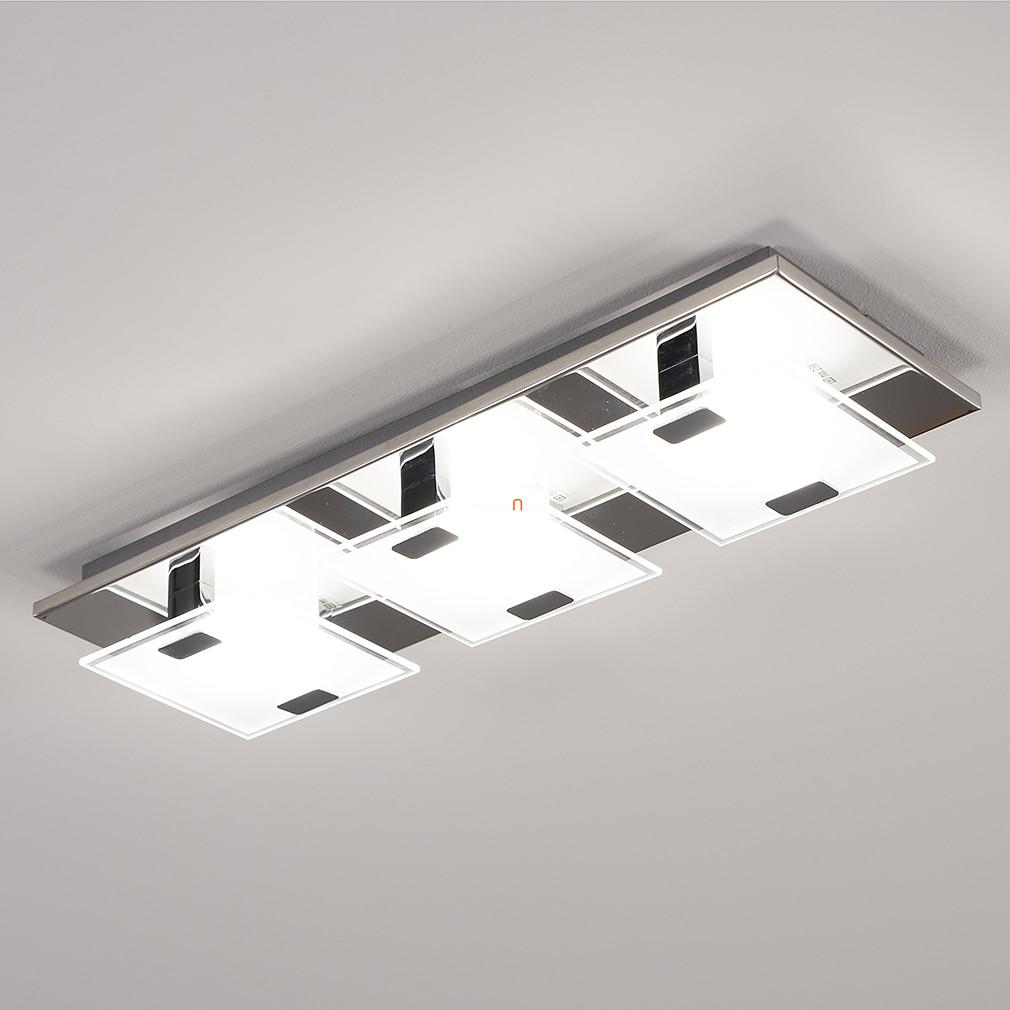 EGLO 93313 LED-es fali/Mennyezeti lámpa 3x2,5W króm/szatin üveg 13,5x40,5cm Vicaro