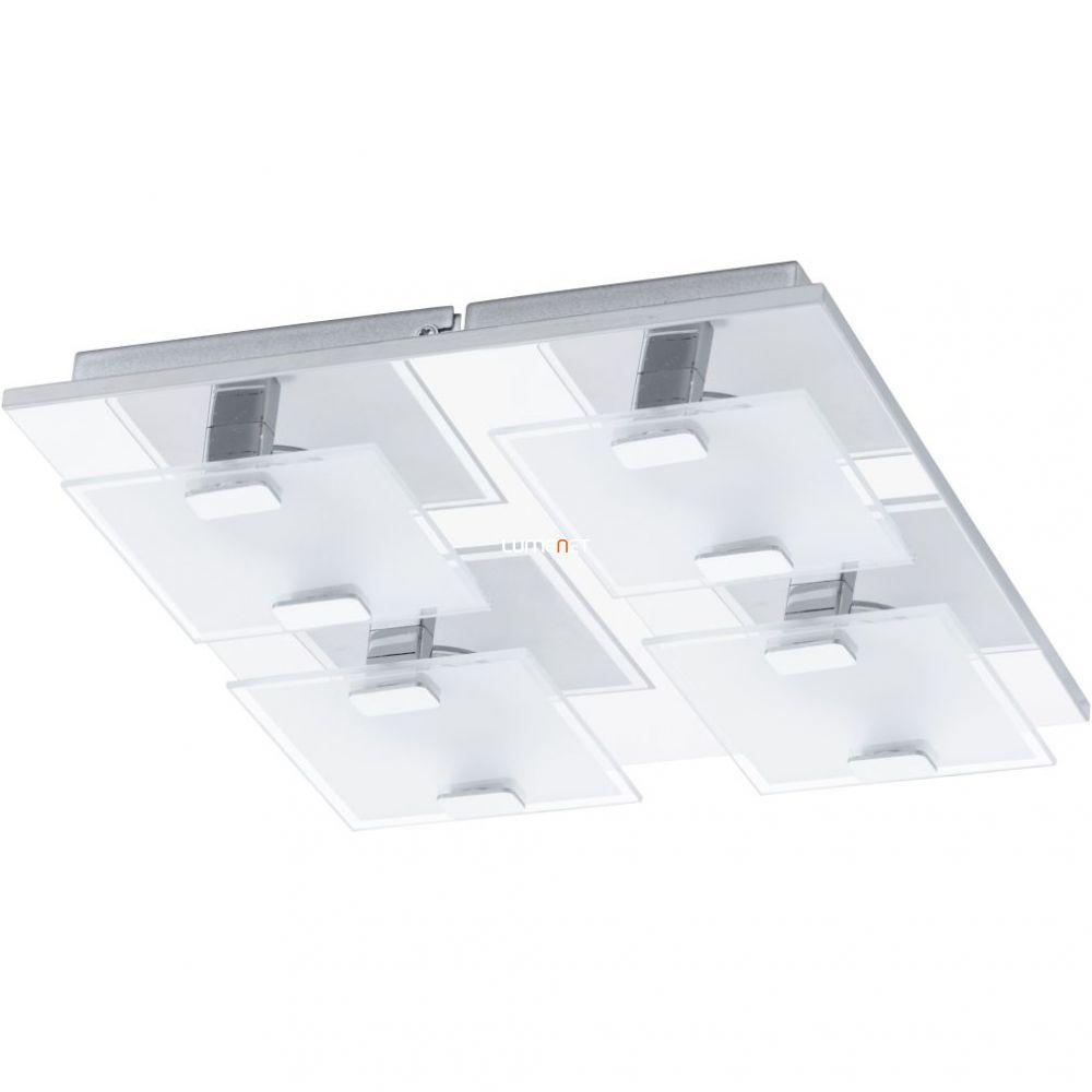 EGLO 93314 LED-es Mennyezeti lámpa 4x2,5W króm/szatin üveg 27x27cm Vicaro