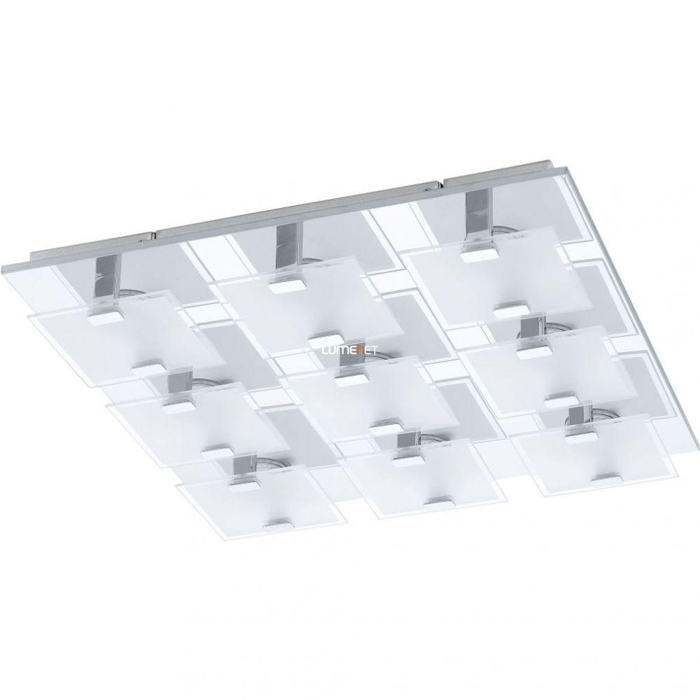 EGLO 93315 LED-es Mennyezeti lámpa 9x2,5W króm/szatin üveg 47x47cm Vicaro