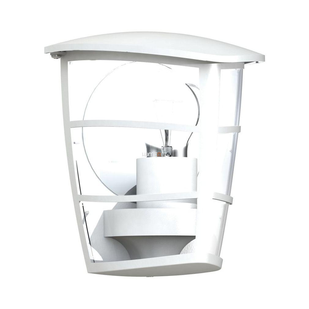 EGLO 93403 Kültéri fali 1xE27 max.60W 18*20*12cm alumínium öntvény fehér, átlátszó műanyag IP44 Aloria