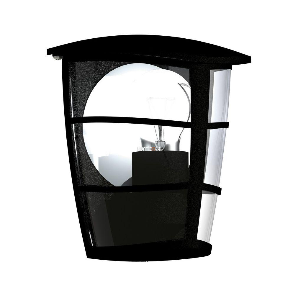 EGLO 93407 Kültéri fali lámpa 1xE27 max.60W 18*20*12cm alumínium öntvény fekete, átlátszó műanyag IP44 Aloria