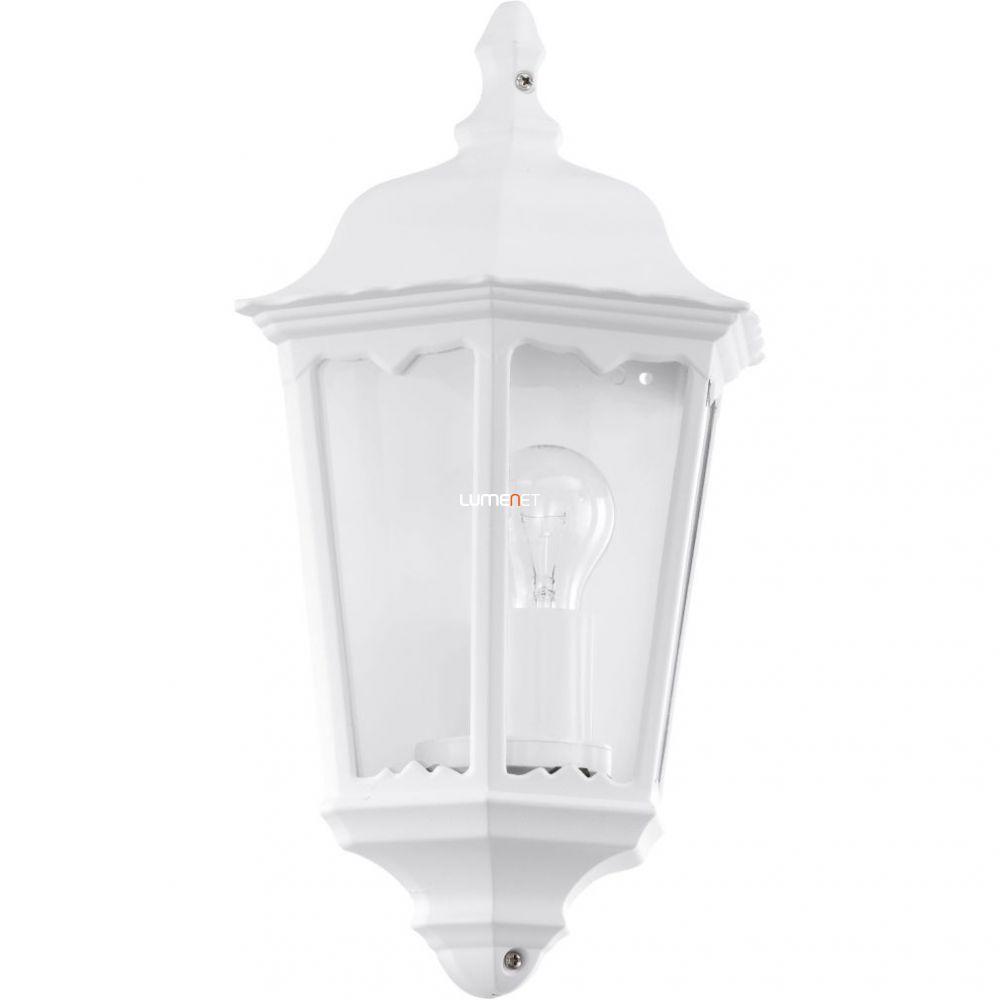 EGLO 93448 Kültéri fali lámpa 1xE27 max.60W 29*43*13cm alumínium öntvény fehér, átlátszó üveg IP44 Navedo