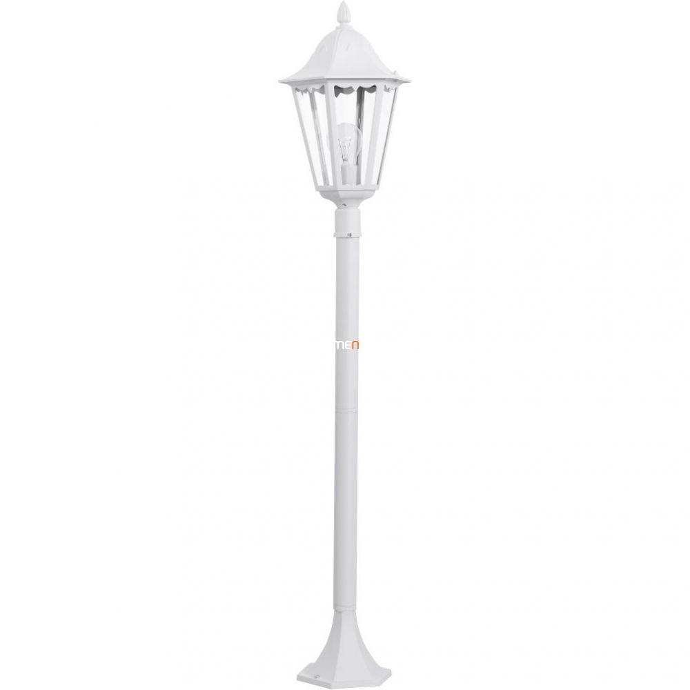 EGLO 93452 Kültéri álló 1xE27 max.60W m:120cm d:23cm alumínium öntvény fehér, átlátszó üveg IP44 Navedo