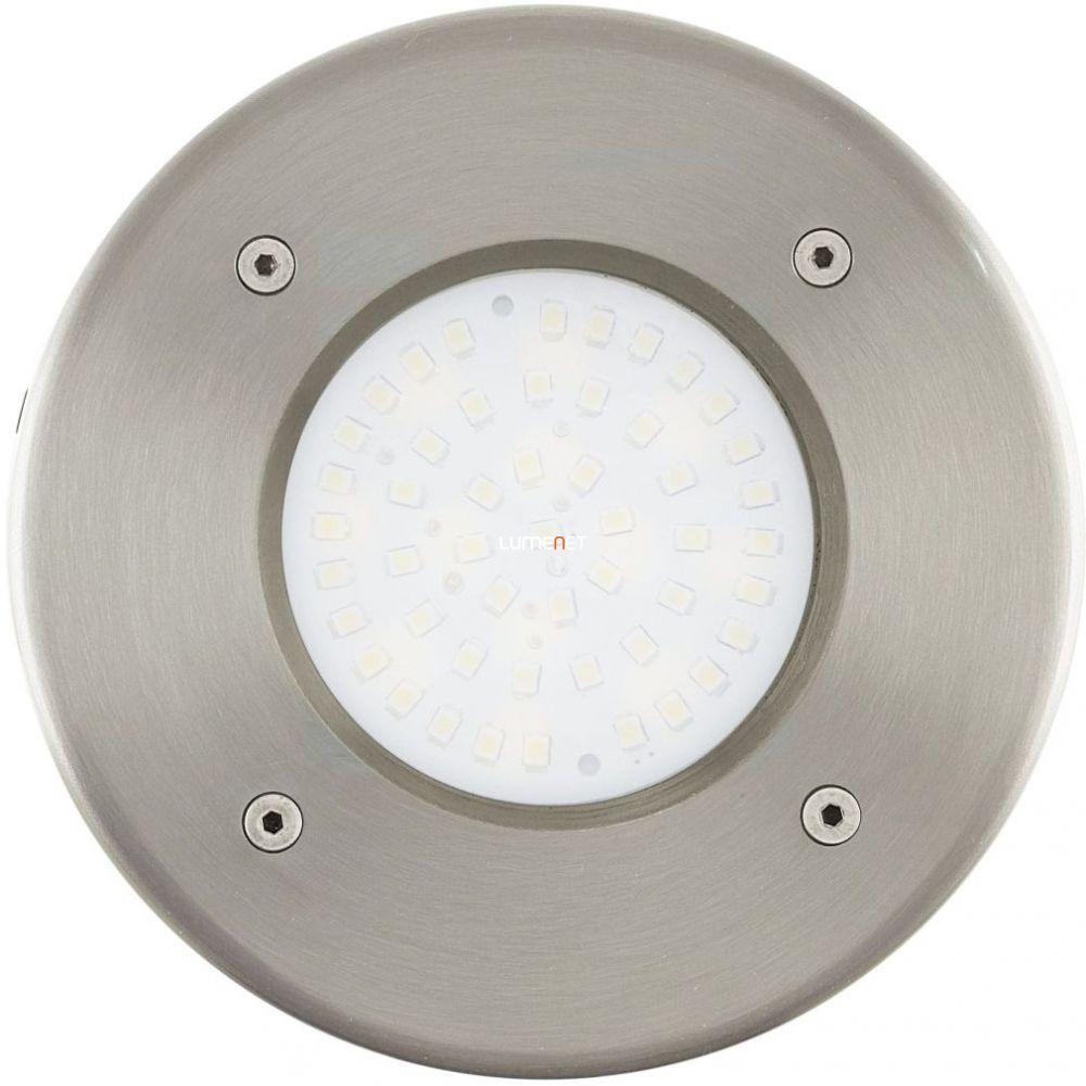 EGLO 93482 kültéri LED talajba építhető 1x2,5W 190lm kerek d:10,2cm nemesacél, átlátszó üveg IP65 Lamedo