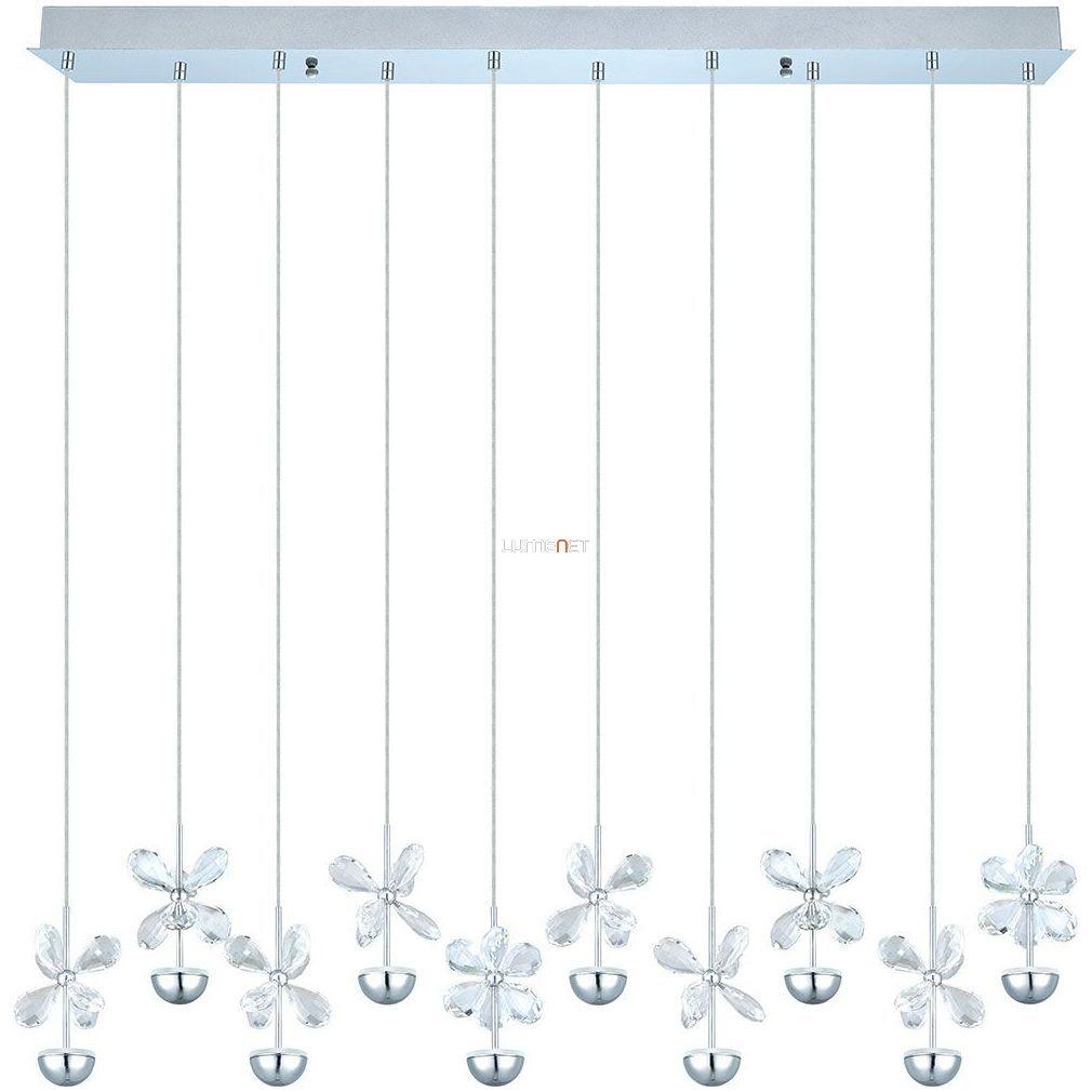 EGLO 93663 LED kristály Függeszték 10x2,5W 10x87cm Pianopoli