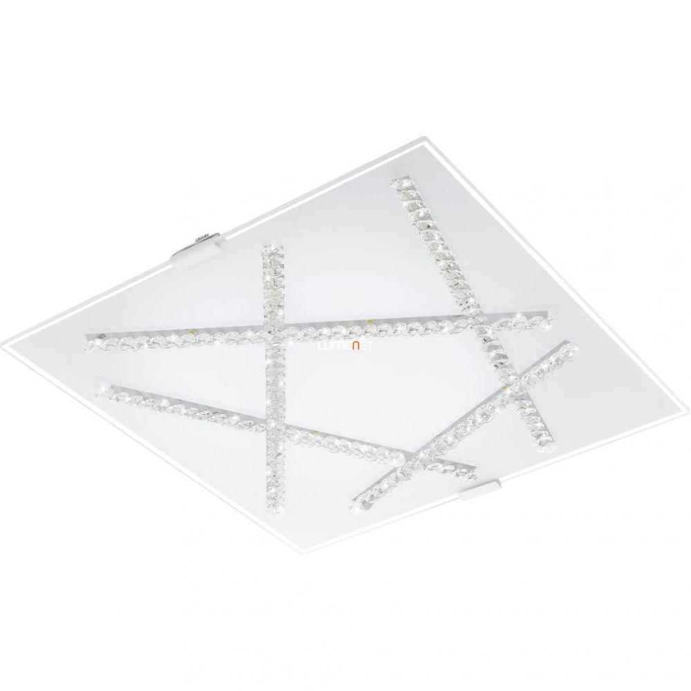 Eglo 93765 Sorrenta mennyezeti LED lámpa 16W 36,5x36,5cm üveg fehér/kristály
