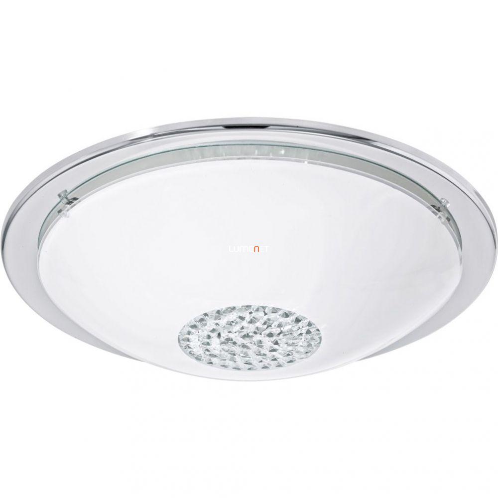 Eglo 93778 mennyezeti LED lámpa 12W króm/fehér/kristály d:37cm Giolina