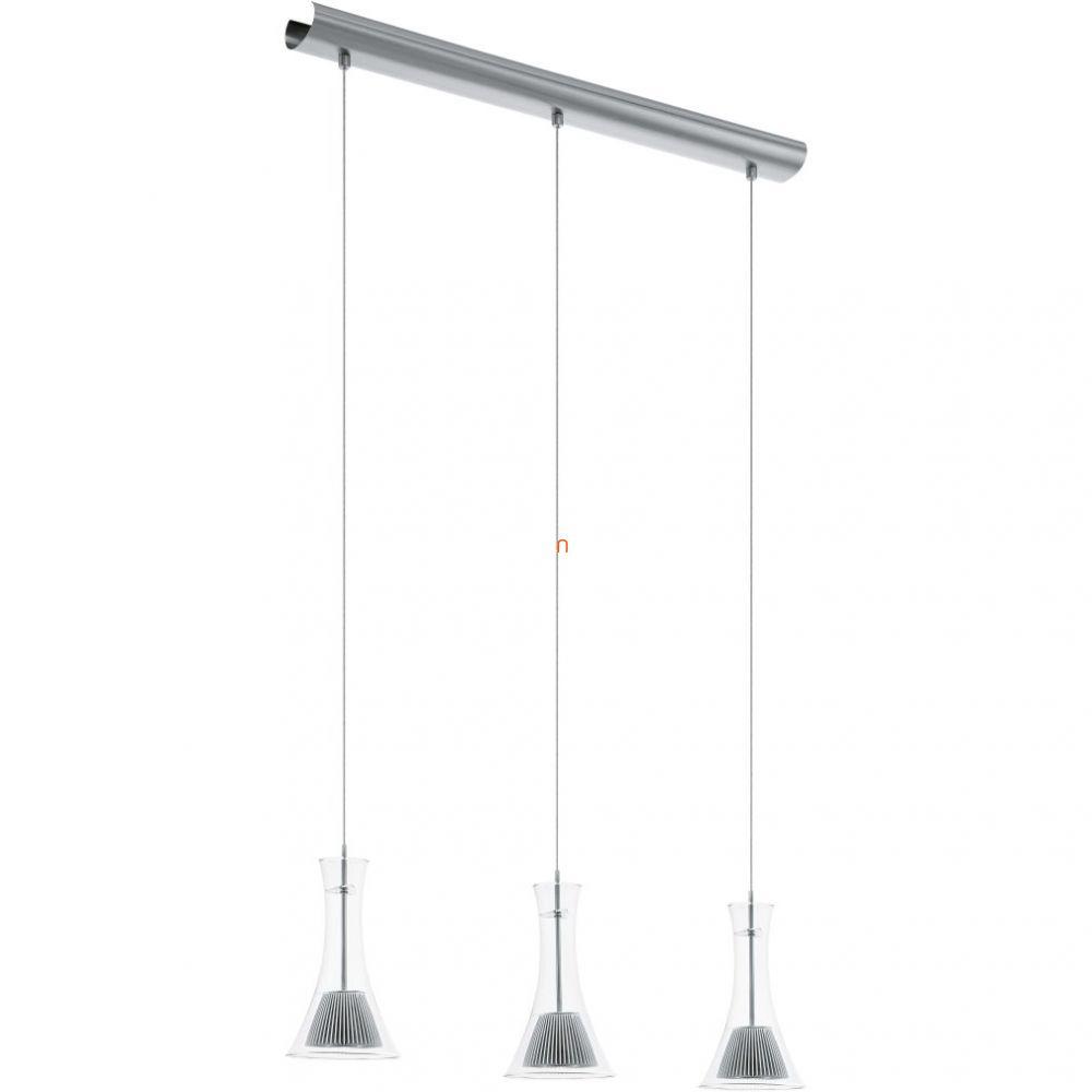 EGLO 93793 LED-es Függeszték 3x5,4W matt nikkel/átlátszó üveg egyenes 74x13cm Musero