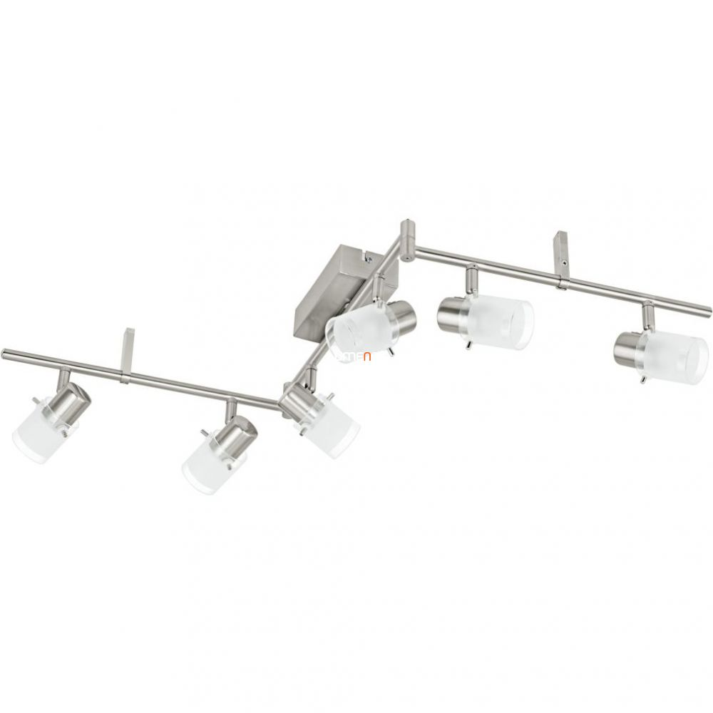 EGLO 93851 LED-es Mennyezeti lámpa 6x3,3W matt nikkel/szatin üveg 105cm Orvieto 1