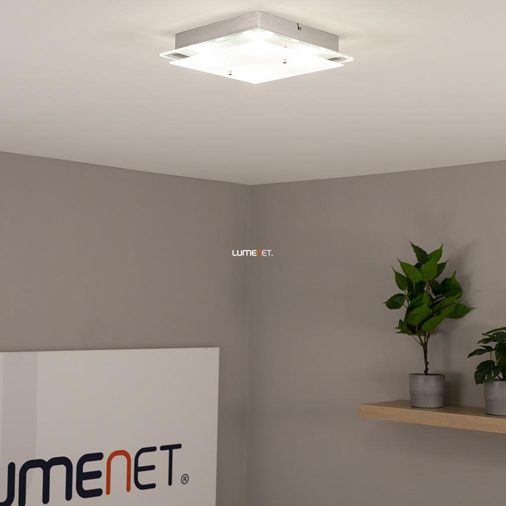 EGLO 93888 LED-es Mennyezeti lámpa 4x5,4W 29x29cm króm/szatin üveg Fres 2