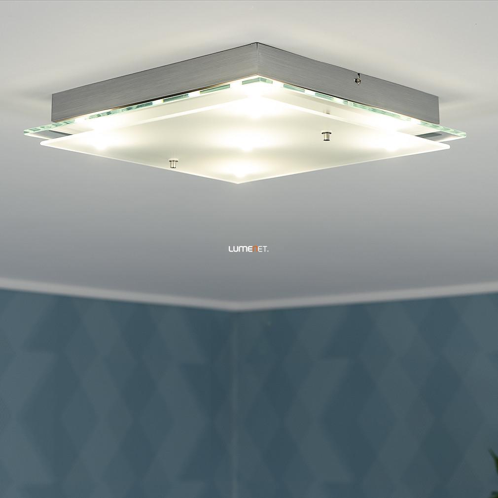 EGLO 93889 LED-es Mennyezeti lámpa 5x5,4W 38x38cm króm/szatin üveg Fres 2