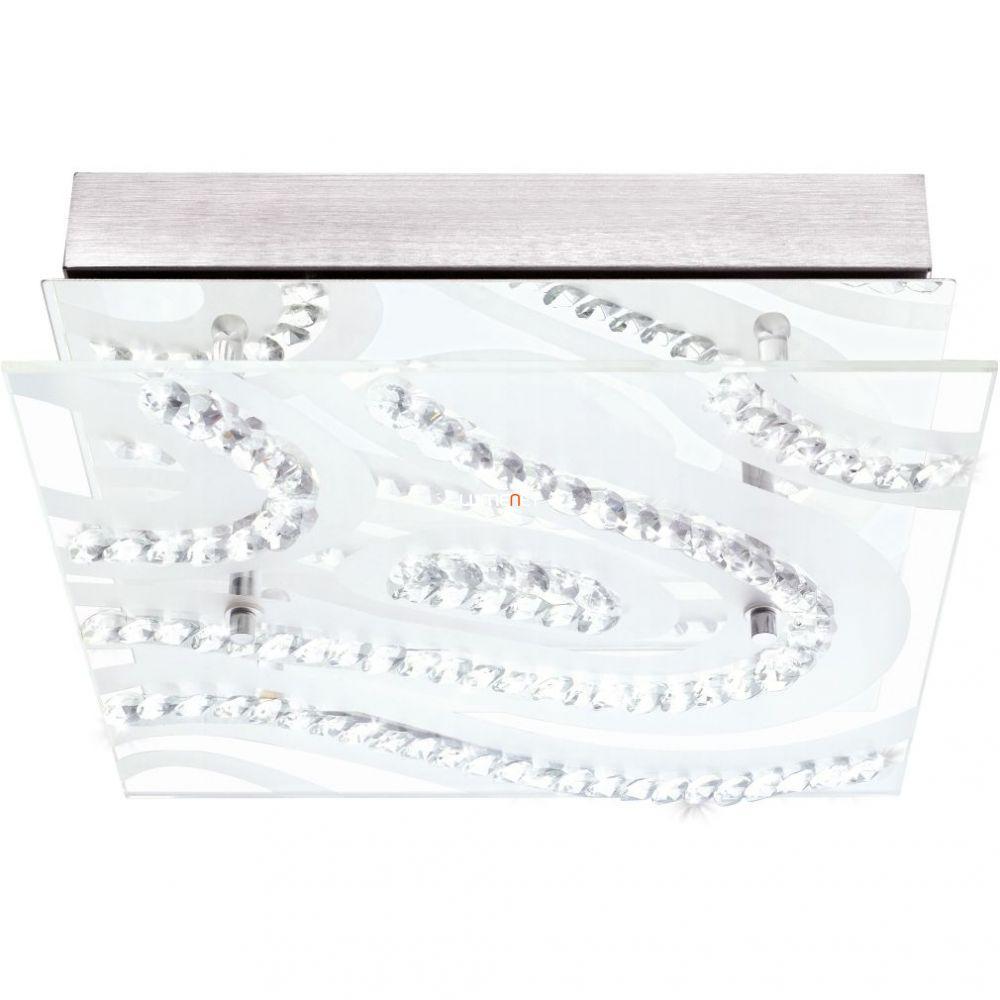 Eglo 93922 mennyezeti LED lámpa 4x5,4W króm/szatin üveg/kristály 27x27cm íves design Verdesca