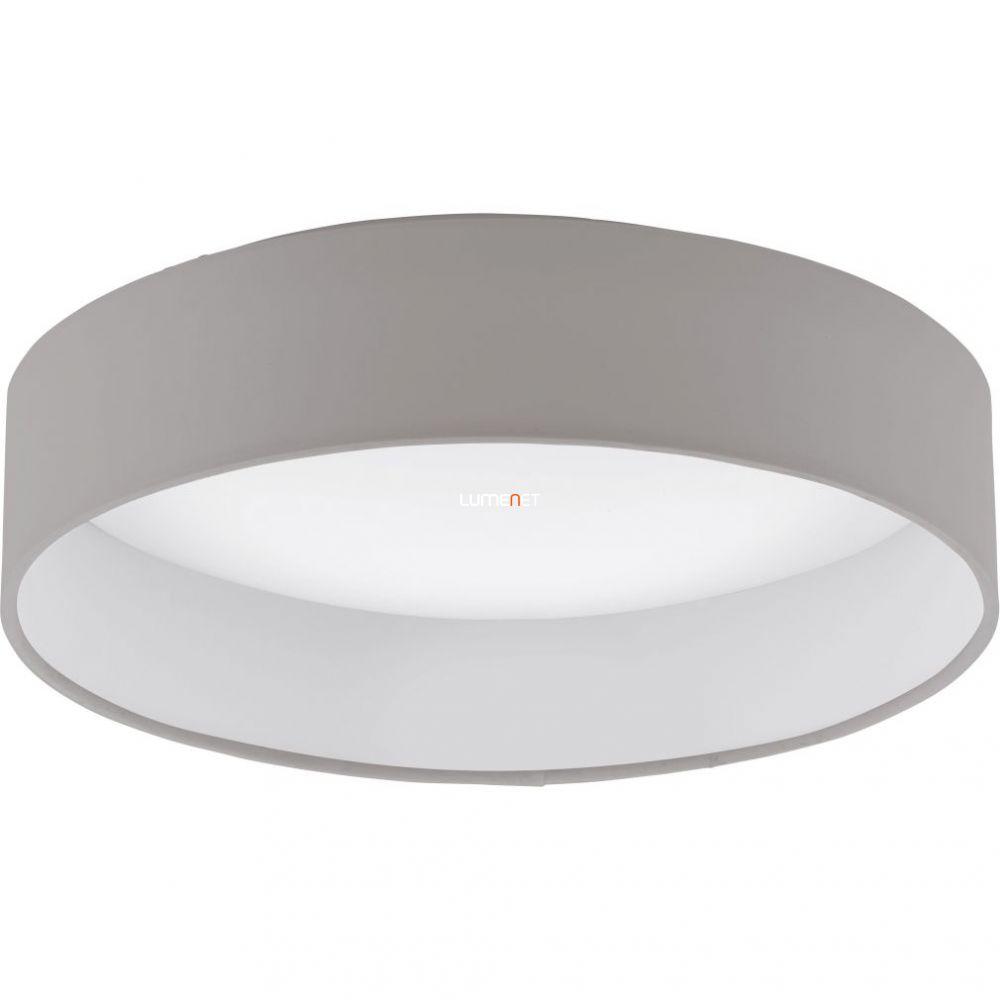 Eglo 93949 mennyezeti LED lámpa 12W d:32cm műanyag fehér/textil szürkésbarna Palomaro