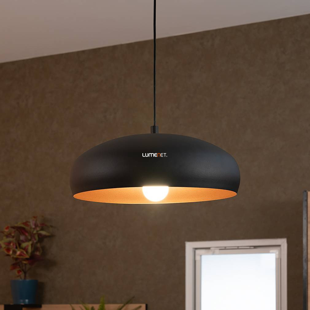EGLO 94605 függeszték E27 60W 40cm fekete/réz Mogano1