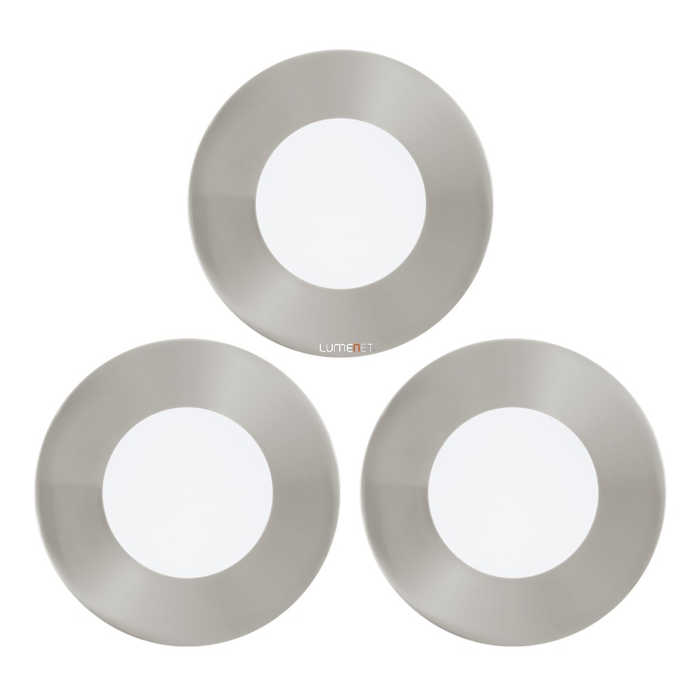 EGLO 94734 Led beépít 3x2,7W 900lm matt nikkel 8,5cm kerek Fueva 1
