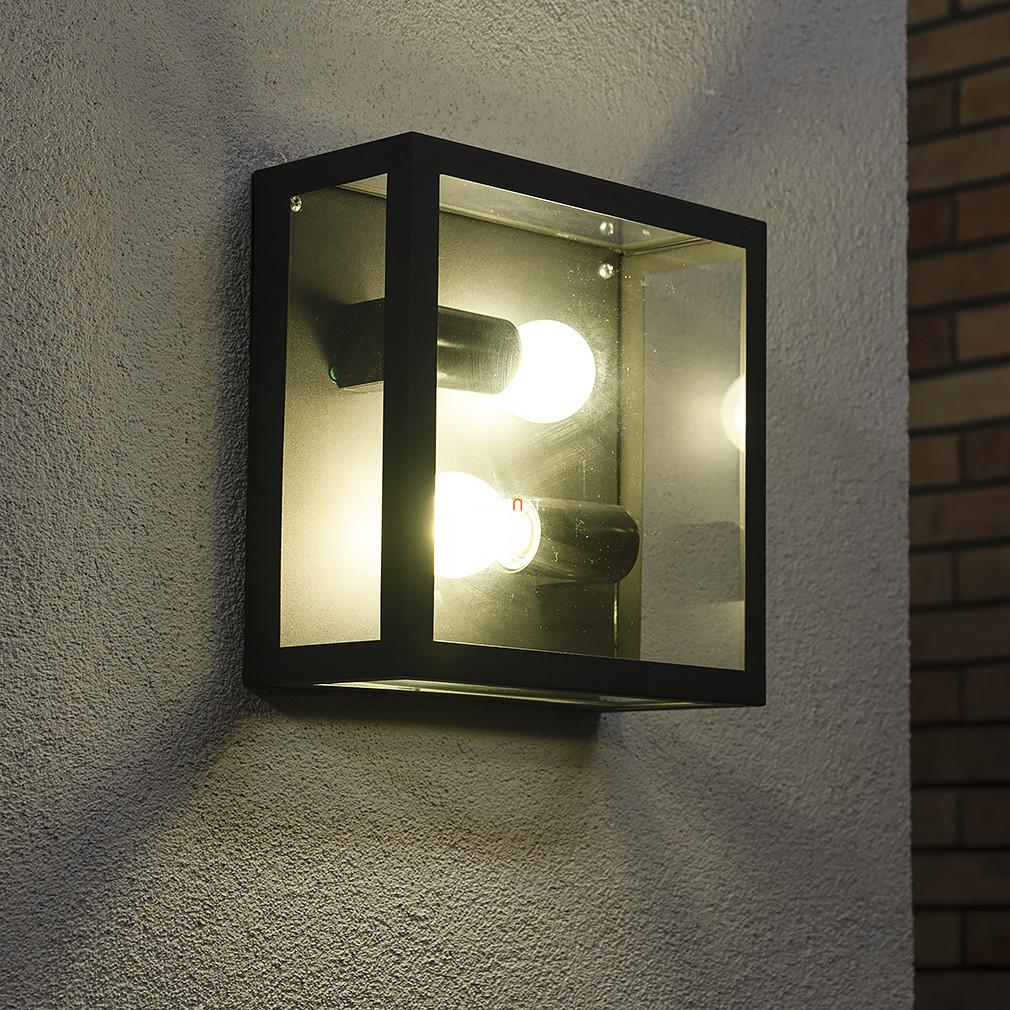 EGLO 94832 kültéri fali/mennyezeti 1xE27 max 60W fekete/üveg Alamonte
