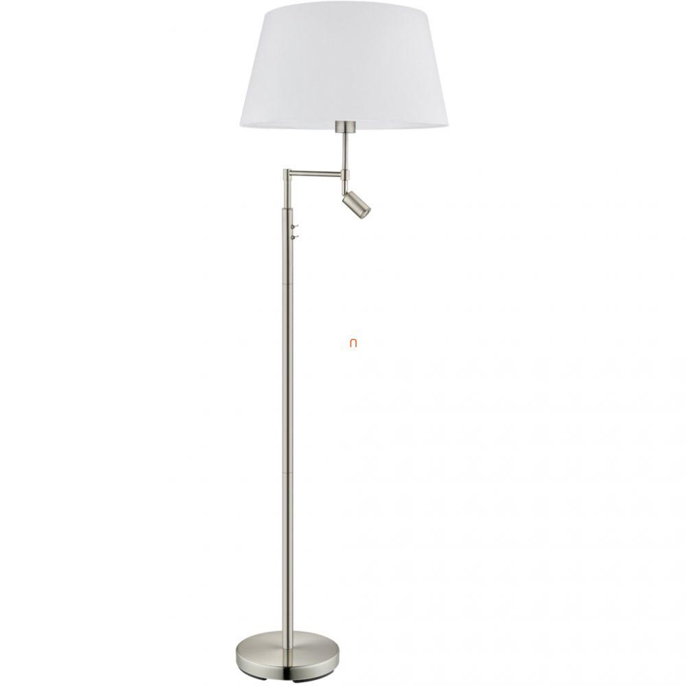 EGLO 94946 állólámpa 1xE27 max. 60W +LED-es 2,1W matt nikkel/fehér Santander