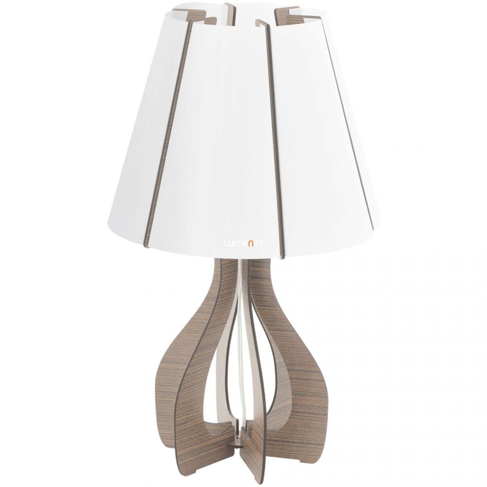 EGLO 94954 asztali lámpa 1xE27 max. 60W sötétbarna/fehér Cossano