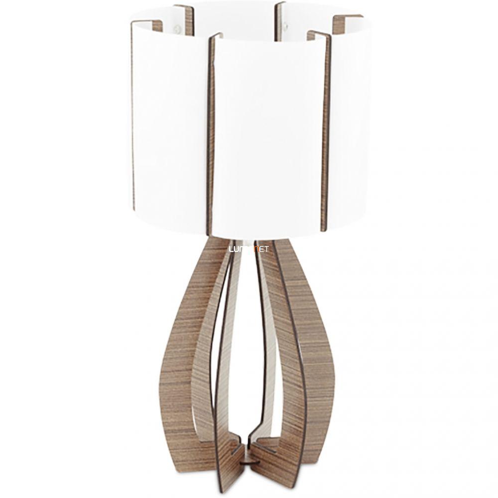 EGLO 94955 asztali lámpa 1xE27 max. 60W sötétbarna/fehér Cossano