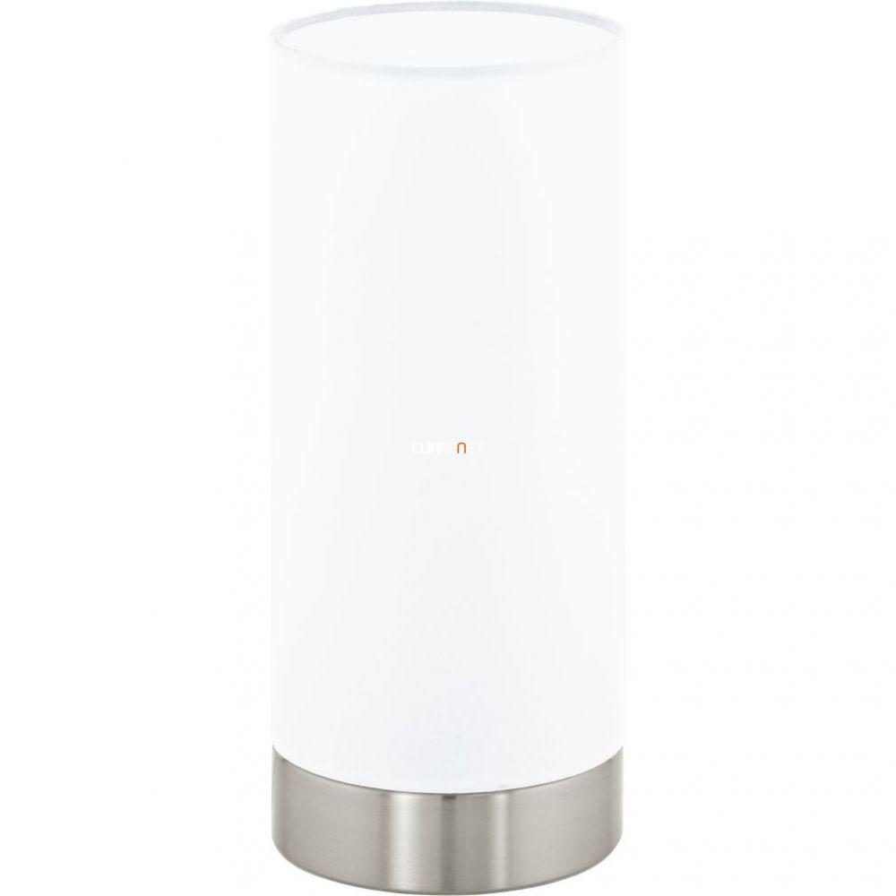 Eglo 95118 Pasteri fehér textil asztali lámpa 1xE27 foglalattal