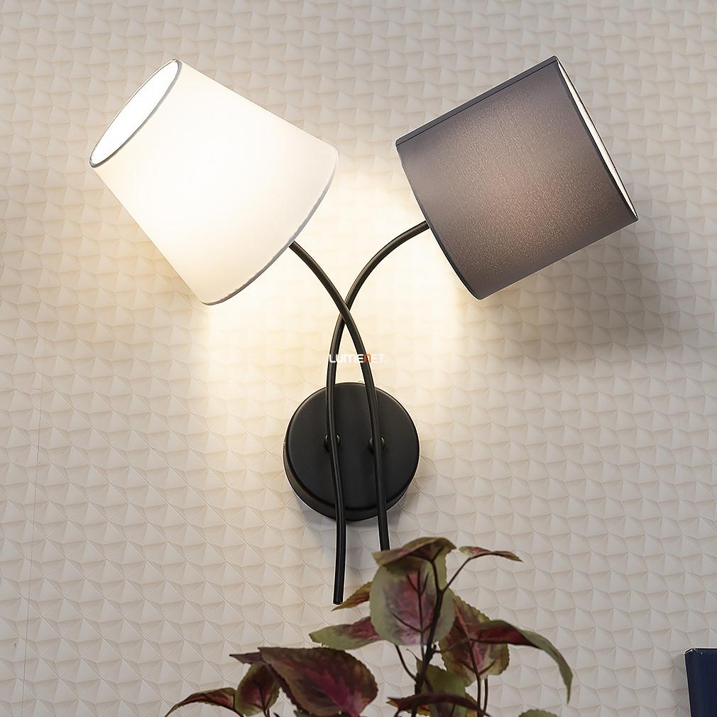 EGLO 95193 fali lámpa 2xE14 max. 40W fekete/színes bura Almeida