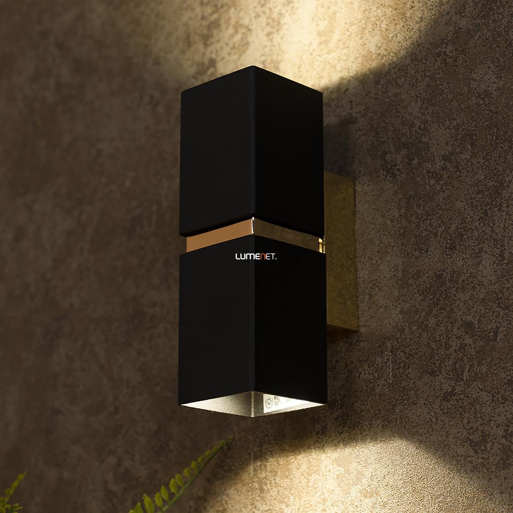 EGLO 95373 LED-es fali lámpa GU10 2x4W szögletes fekete/arany Passa