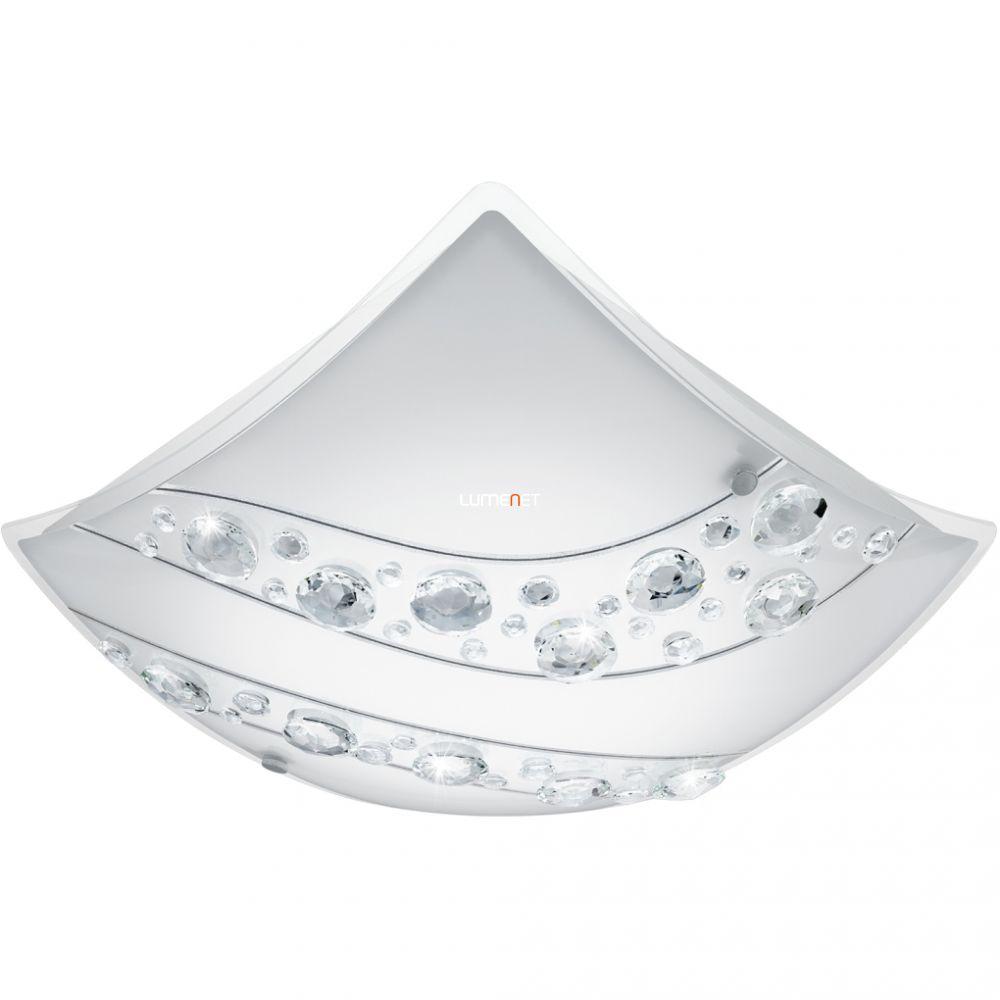 EGLO 95578 LED-es mennyezeti lámpa 16W szögletes fehér/kristály Nerini