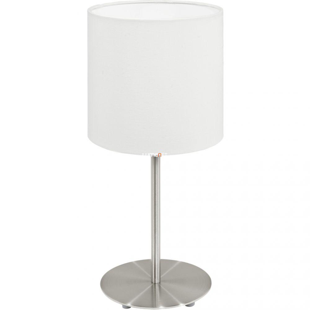 EGLO 95725 asztali lámpa 1xE14 max. 40W matt nikkel/fehér Pasteri