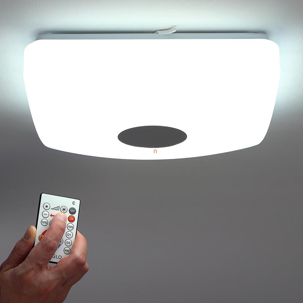 EGLO 95974 LED-es mennyezeti lámpa 14W fehér/kristály szabályozható színhő szögletes Voltago