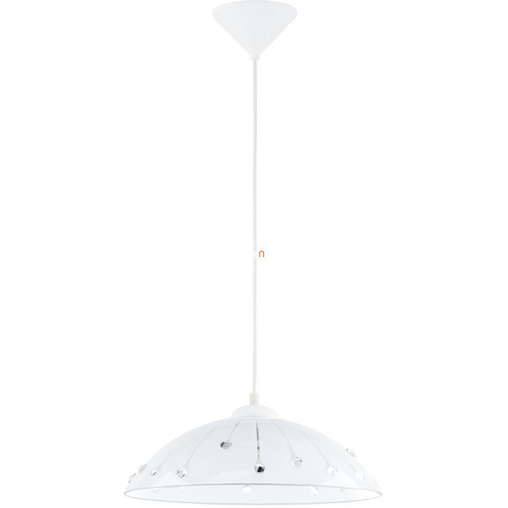 EGLO 96073 függeszték 1xE27 max 60W fehér/kristály Vetro