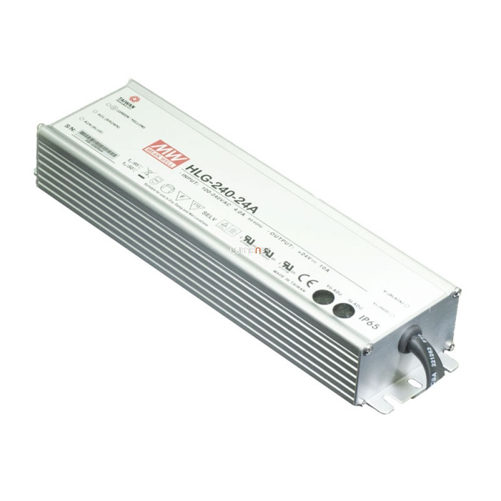 MEAN WELL HLG-240H-24A 240W IP65 Vin: 90-305V AC/127-431V DC, Vout: 24V DC