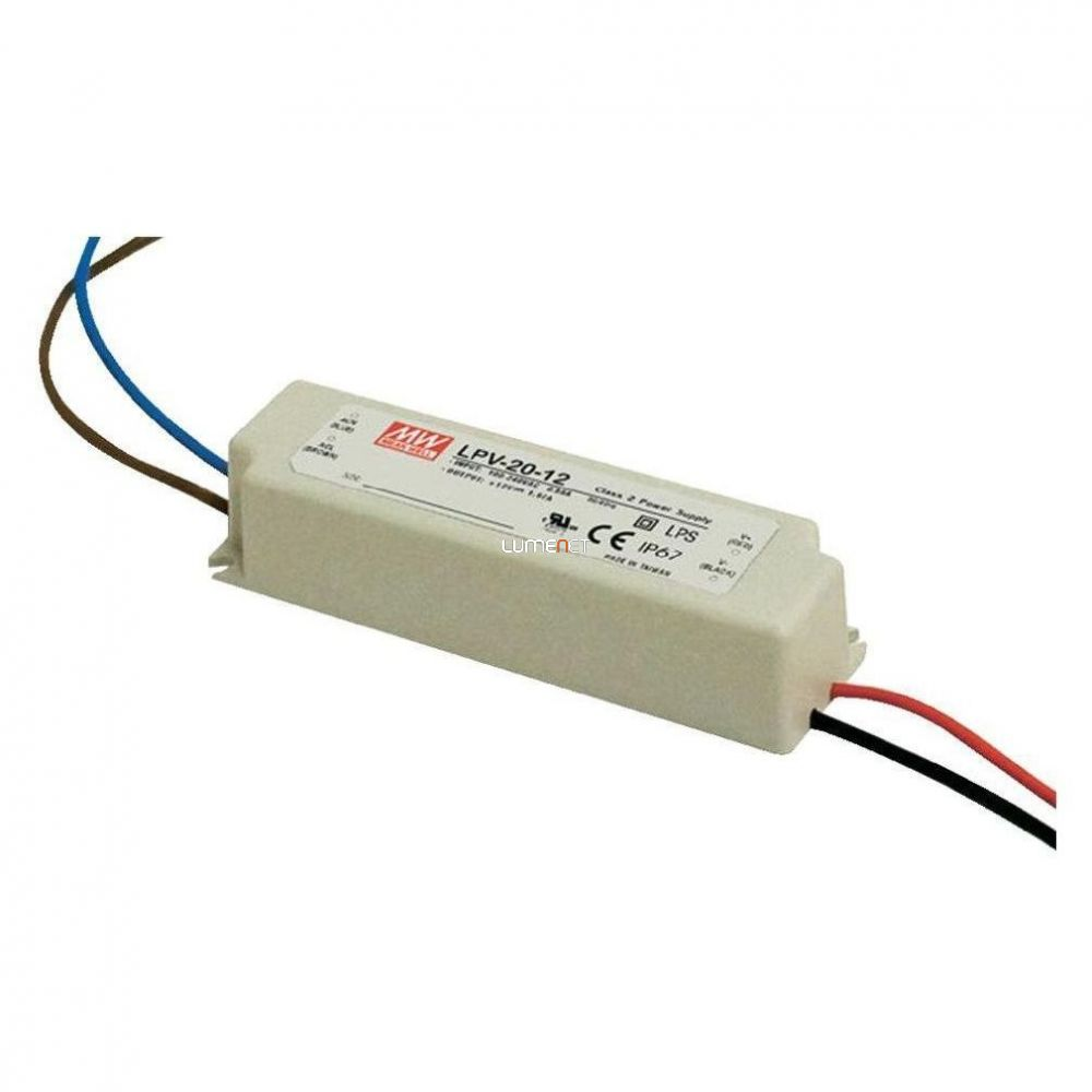 MEAN WELL LPV-20 20W 12V IP67 Vin: 90-264V AC, Vout: 12V DC