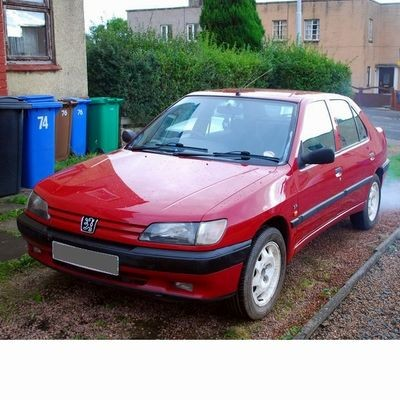 Autó izzók két halogén izzóval szerelt Peugeot 306 Sedan (1993-1997)-hoz