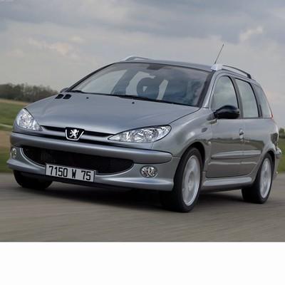 Autó izzók két halogén izzóval szerelt Peugeot 206 Kombi (2002-2006)-hoz