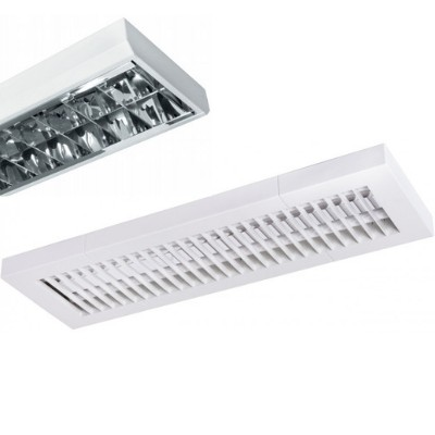 T8 Fluorescent Lamp Luminaires with Louvre