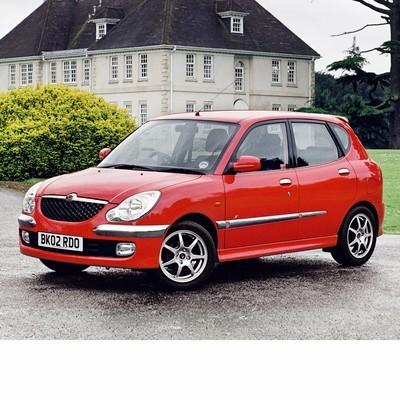 Autó izzók halogén izzóval szerelt Daihatsu Sirion (1998-2005)-hoz