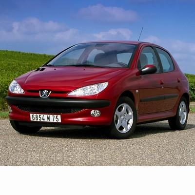 Autó izzók két halogén izzóval szerelt Peugeot 206 (2006-2010)-hoz