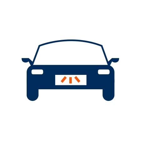 Hátsó rendszámtábla világítás izzó Volkswagen Touran (2003-2006)-hoz