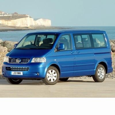 Autó izzók két halogén izzóval szerelt Volkswagen Multivan T5 (2003-2009)-höz
