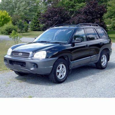 Autó izzók halogén izzóval szerelt Hyundai Santa Fe (2001-2006)-hez