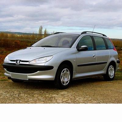 Autó izzók halogén izzóval szerelt Peugeot 206 Kombi (2002-2010)-hoz